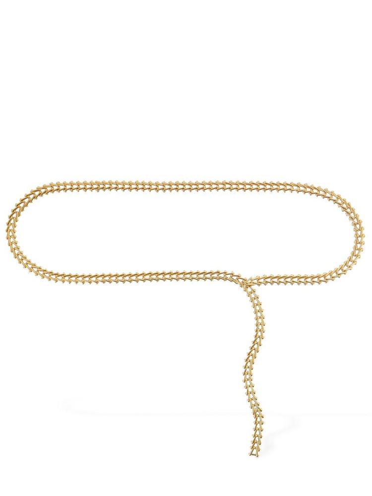 BOTTEGA VENETA Metal Triangle Link Belt in gold