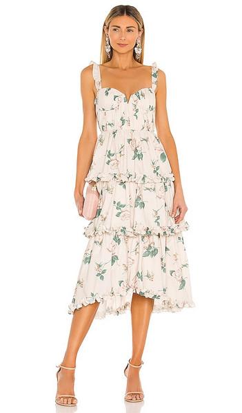 SAU LEE Peyton Dress in Beige in pink