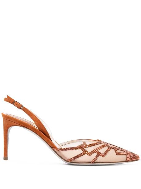 René Caovilla Nadine sandals in brown