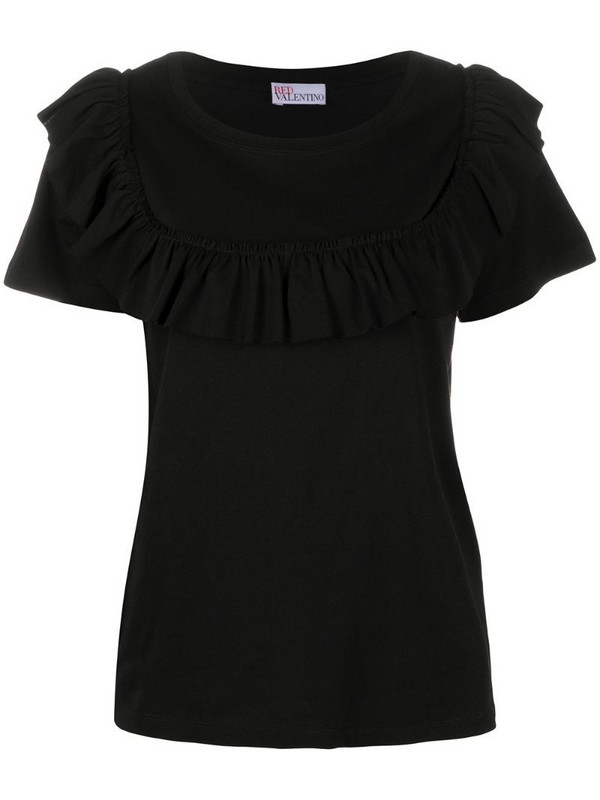 RedValentino ruffle-detail blouse in black