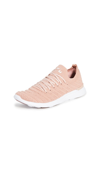 APL: Athletic Propulsion Labs TechLoom Wave Sneakers in rose / white