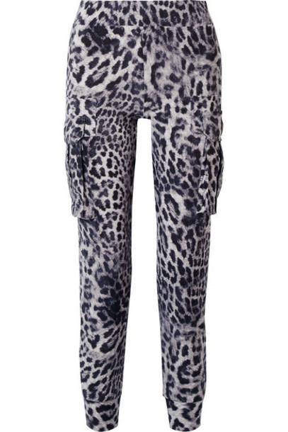 Norma Kamali - Leopard-print Stretch-jersey Track Pants - Leopard print