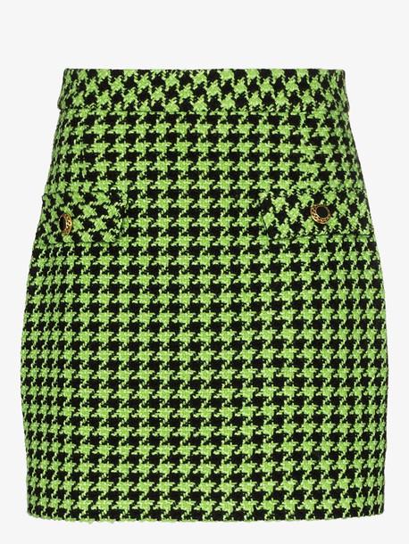 Rixo X Christian Lacroix mariah houndstooth tweed mini skirt in black
