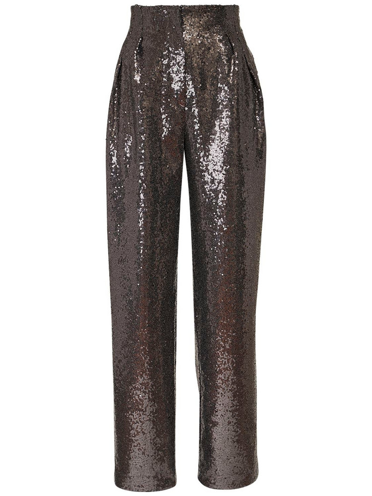 IN THE MOOD FOR LOVE Clyde Sequined Pants in grey