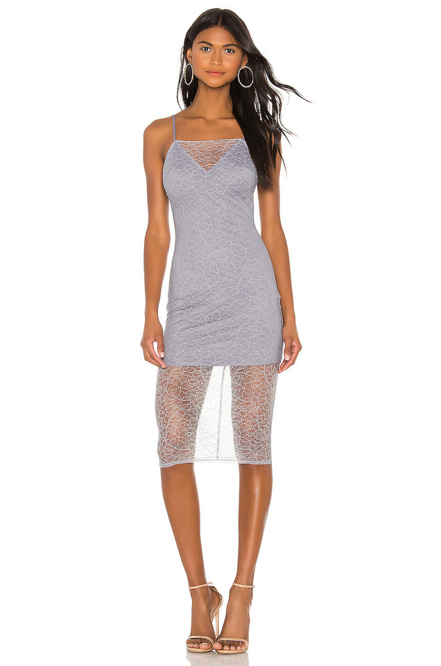 h:ours Florence Dress in gray