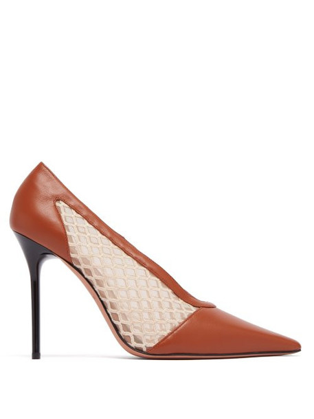 Altuzarra - Peppino Leather & Mesh Pumps - Womens - Tan White