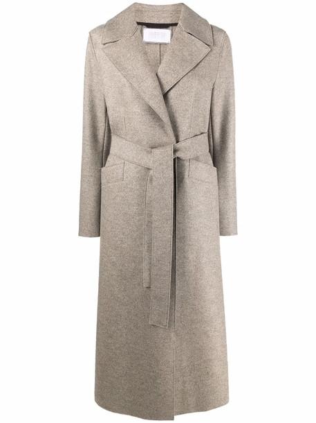 Harris Wharf London long felted wool coat - Neutrals