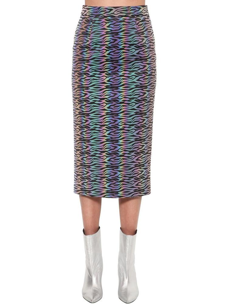 ANNAKIKI Huawei Reflective Magic Zebra Midi Skirt