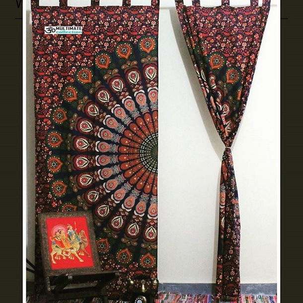 Home Accessory Multimatecollection Wall Tapestry Curtains Mandala Wall Hanging Bohemian Cheap Tapestries Beaded Door Curtains Wall Hanging Shower Curtain Home Decor Window Curtain Door Cover Wheretoget