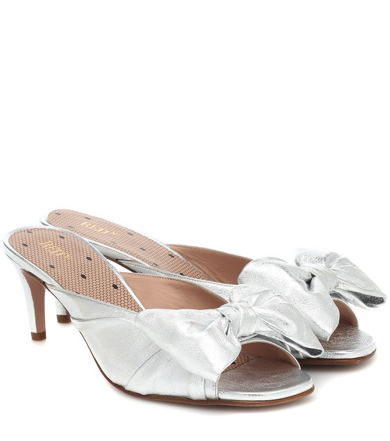 RED (V) RED (V) metallic leather sandals in silver