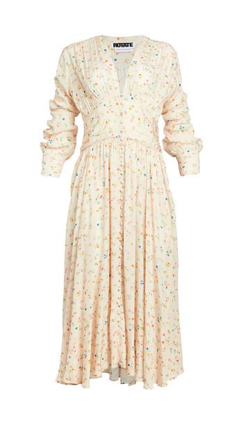 ROTATE Tracy Dress in peach