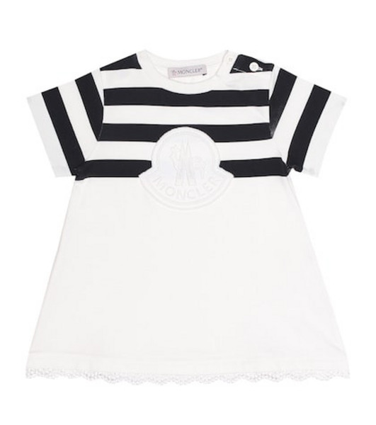 Moncler Enfant Cotton dress in white