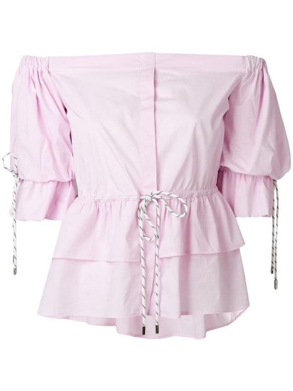 Christian Pellizzari strapless shirt in pink