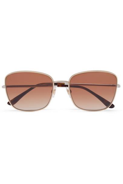 Dolce & Gabbana - Square-frame Gold And Silver-tone Sunglasses