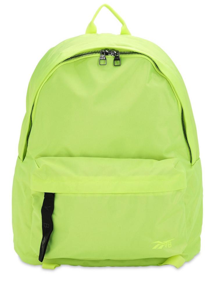 REEBOK X VICTORIA BECKHAM Logo Nylon Backpack in yellow