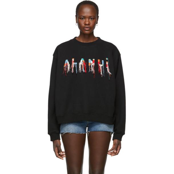 Alanui Black Logo Sweatshirt