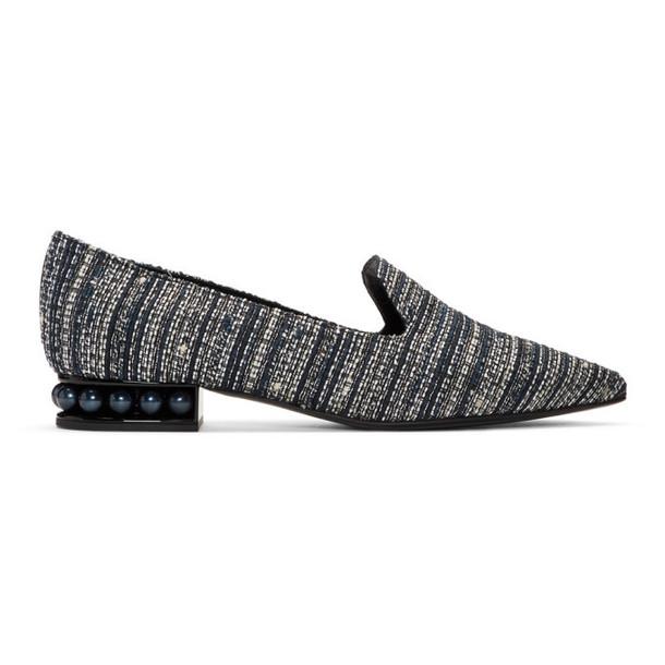 Nicholas Kirkwood Blue Tweed Casati Loafers