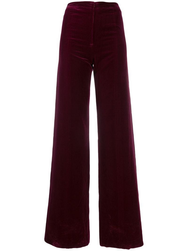 Emanuel Ungaro Pre-Owned 1970's wide-leg trousers in red