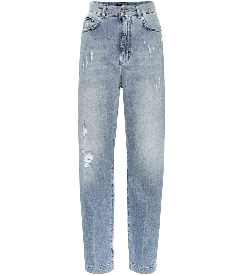 Dolce & Gabbana High-rise carrot jeans in blue