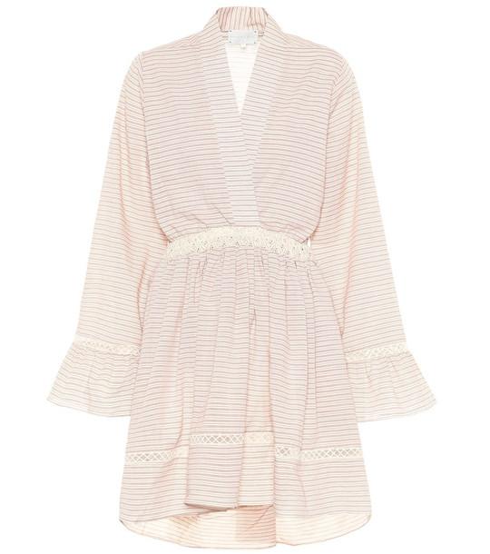 Arjé The Devon striped cotton dress in pink