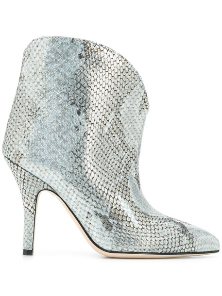 Paris Texas metallized embossed ankle boots in blue