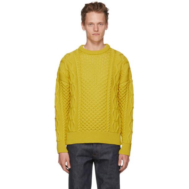 AMI Alexandre Mattiussi Yellow Irish Crewneck Sweater