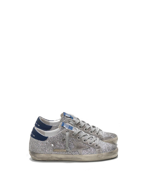 Golden Goose Sneakers Superstar Ice Star in blue / silver