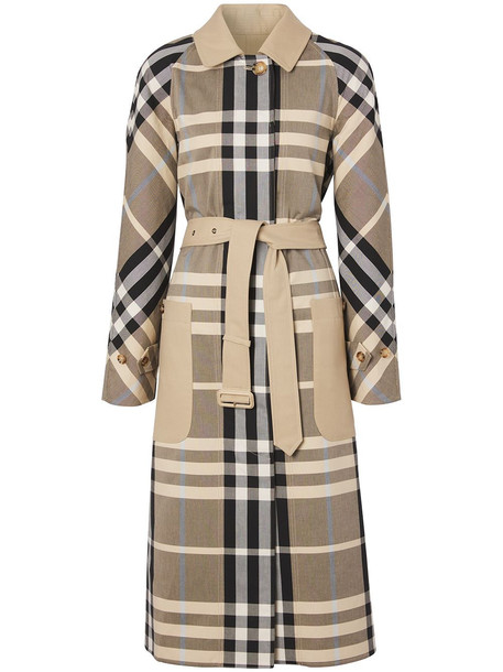 Burberry reversible checked car coat - Brown