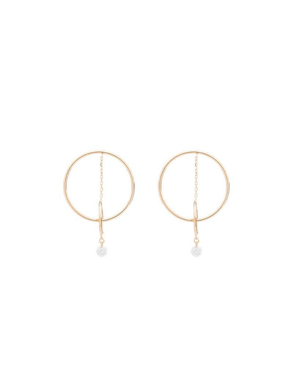Persée 18kt yellow gold Orbit double hoop diamond earrings