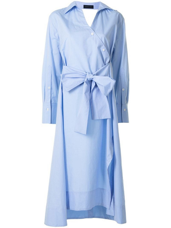 Eudon Choi tie-waist shirt dress in blue