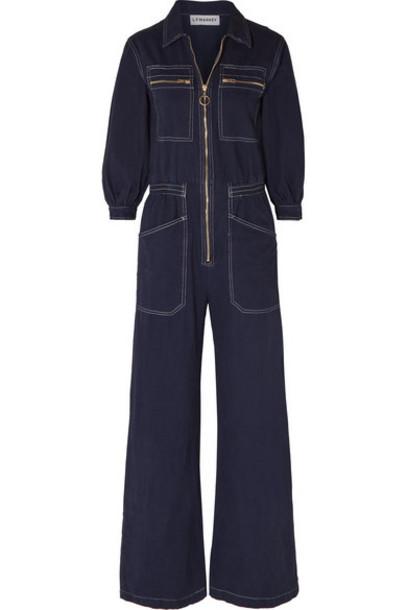 L.F.Markey - Dante Cotton-drill Jumpsuit - Midnight blue