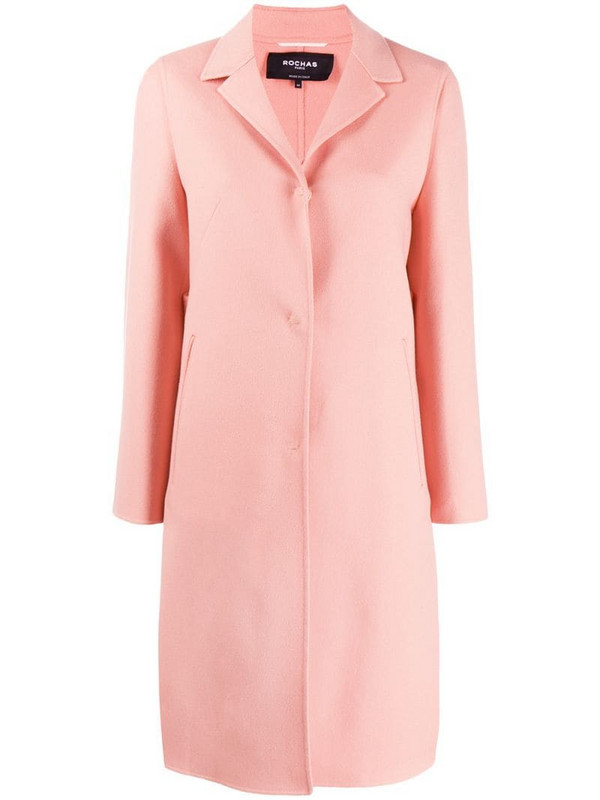 Rochas single breasted coat in pink