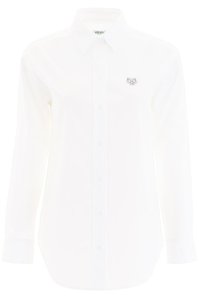 Kenzo Shirt With Tiger Embroidery in white