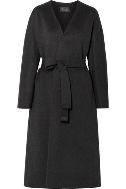 Loro Piana - Gil Belted Cashmere Coat - Dark gray