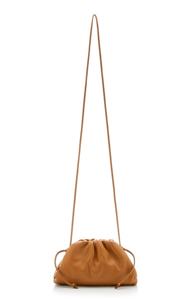Bottega Veneta The Pouch Small Leather Clutch in brown