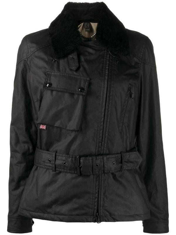 Belstaff Sammy Miller belted biker jacket in black