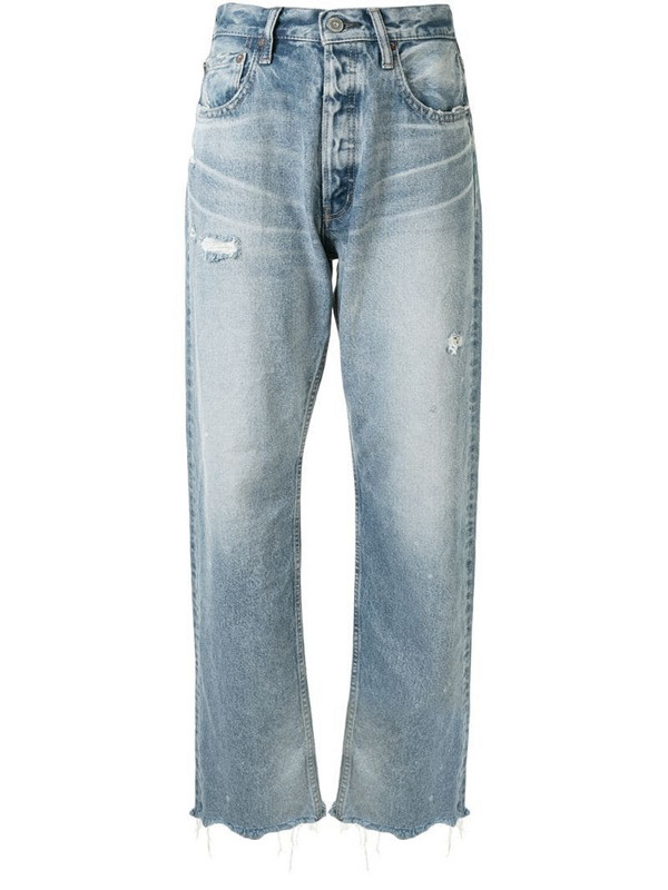 Moussy Vintage Lomita wide straight jeans in blue