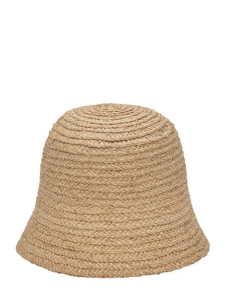 RUSLAN BAGINSKIY Natural Straw Cloche Hat
