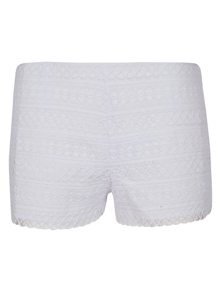 Charo Ruiz Embroidered Shorts in white