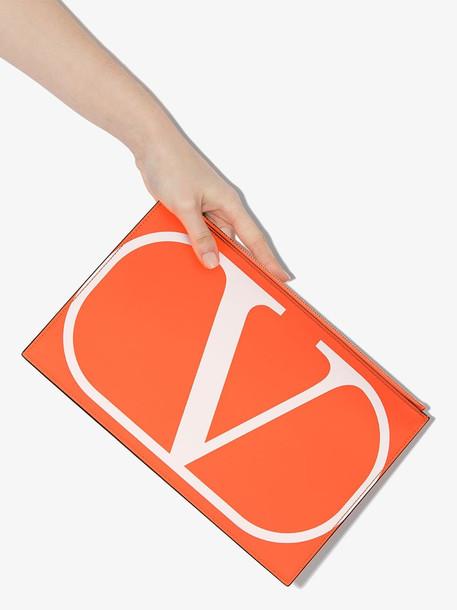 Valentino VAL MYVLOGO FLURO POUCH in orange