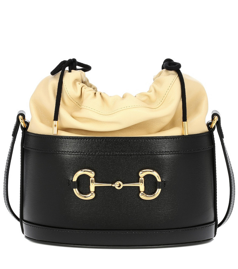 Gucci 1955 Horsebit leather bucket bag in black