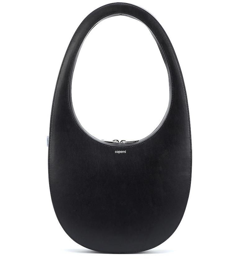 Coperni Swipe Large leather shoulder bag in black