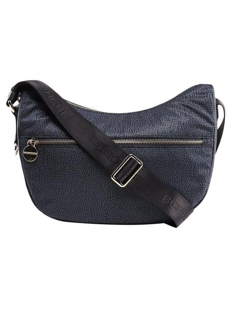 Borbonese Small Luna Bag in nero