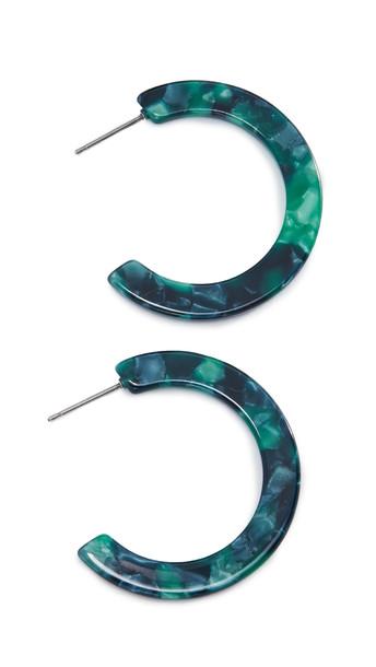 Shashi Verde Hoop Earrings in green
