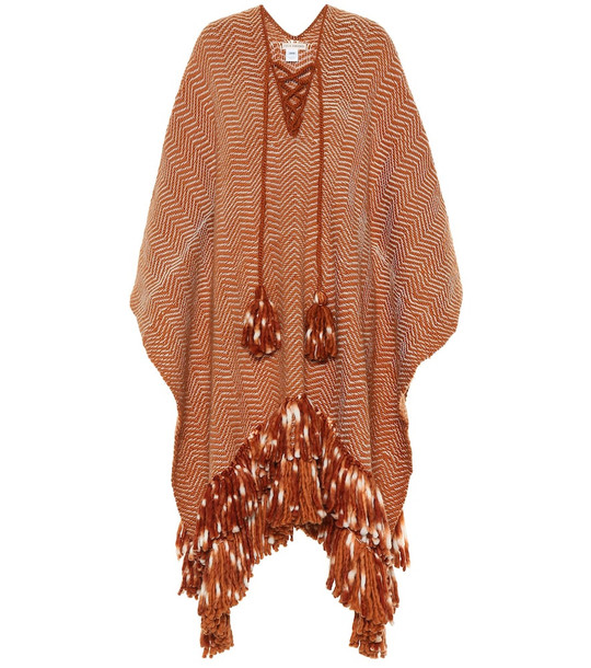 Ulla Johnson Mona wool poncho in brown