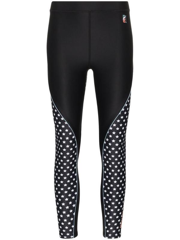 P.E Nation Dominion star print performance leggings in black