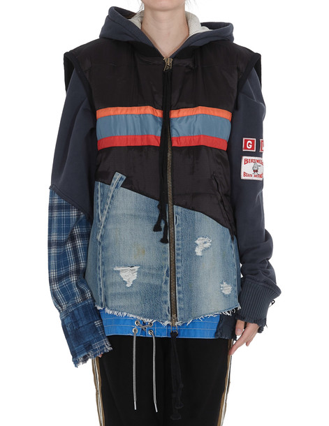 Greg Lauren 50/50 Denim Vest