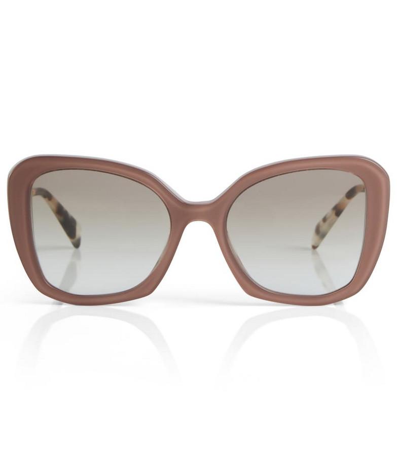 Prada Oversized cat-eye sunglasses in pink