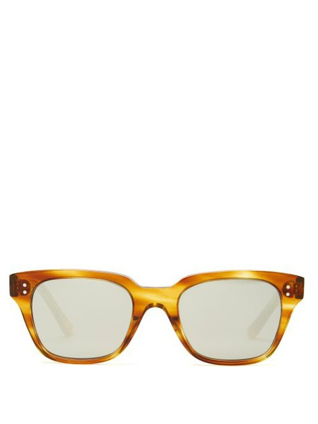 Celine Eyewear - Mirrored D Frame Sunglasses - Womens - Tortoiseshell