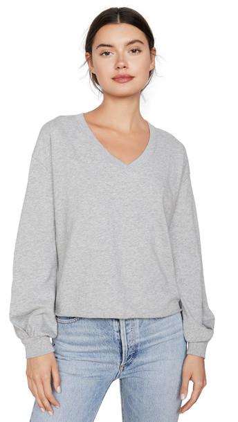 Nation LTD Willa Bishop Sleeve Cocoon Pullover in grey